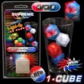 Red, White and Blue Lited Ice Cube - Retail Pack
