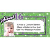 Sweet 16 Custom Photo Banner