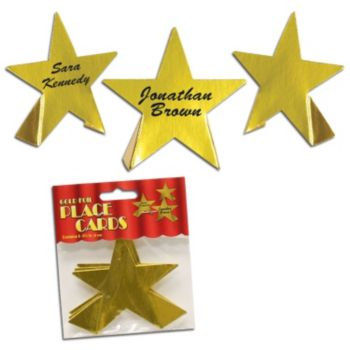 Gold Foil Star  Place Cards