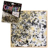 Black & Gold Metallic Confetti