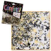 Black & Gold Metallic Confetti