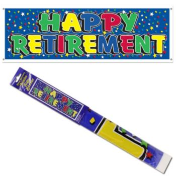 Happy Retirement  Plastic Banner