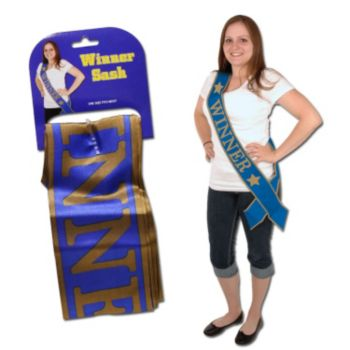 Winner Satin Sash