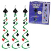 Card Suit Metallic Whirl Decorations-3 Pack