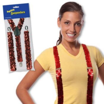 Red Sequin Suspenders