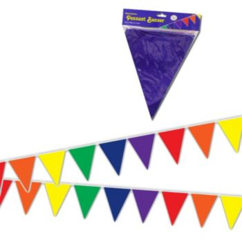 Colorful Pennant Plastic Banner