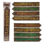 Medieval Sign Cutouts-4 Per Unit