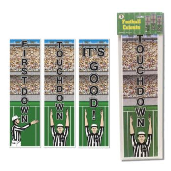 Football Touchdown Cutouts