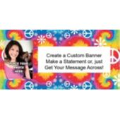 Woodstock Tie Dye Custom Photo Banner