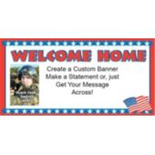 Patriotic Welcome Home Custom Photo Banner