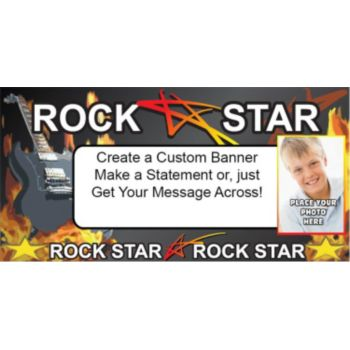 Rock Star Custom Photo Banner