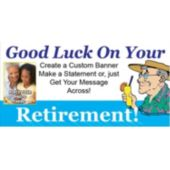 Retirement Custom Photo Banner