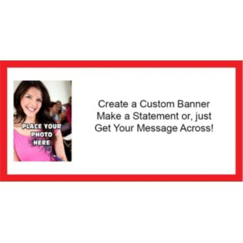 Red Border Custom Photo Banner