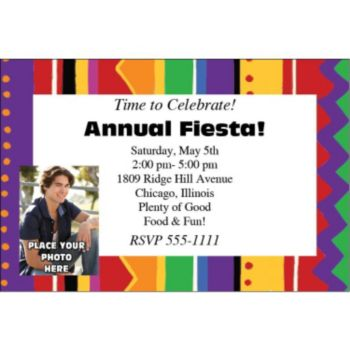 Festive Fiesta Personalized Photo Invitations