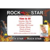 Rock Star Personalized Photo Invitations