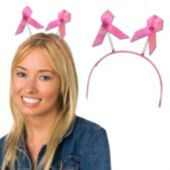Pink Ribbon Head Boppers -12 Pack