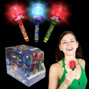 Flashing LED Blink Candy Pop - 5 Inch, 12 Pack