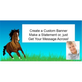 Horse Lover Custom Photo Banner
