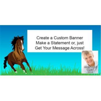 Horse Lover Custom Photo Banner