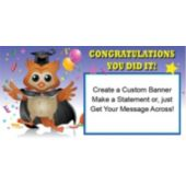 Graduation Owl Custom Banner