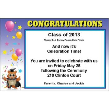 Graduation Owl Personalized Invitations