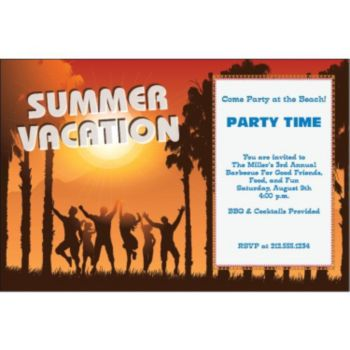 Summer Vacation Personalized Invitations