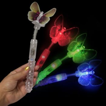 Multi-Color LED Butterfly Wand - 10.5 Inch
