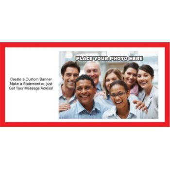 Red Border Group Photo Custom Banner