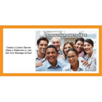 Orange Border Group Photo Custom Banner