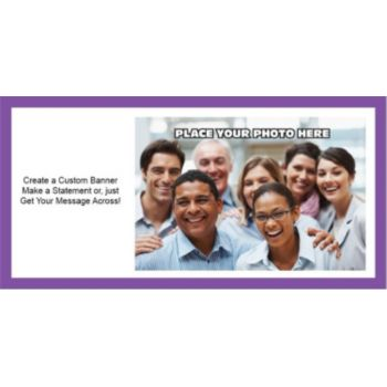 Purple Border Group Photo Custom Banner