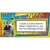 Celebrate 30 Custom Photo Banner