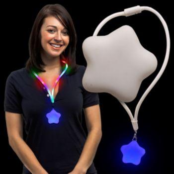 Star LED Lanyard Necklace