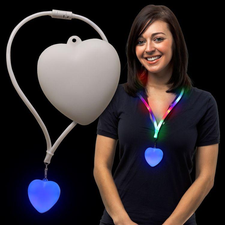 LED Heart Lanyard Necklace LIT370EA