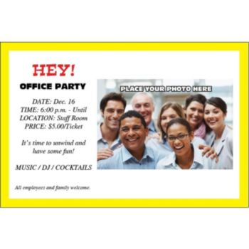 Yellow Border Group Personalized Invitations