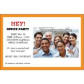 Orange Border Group Personalized Photo Invitations