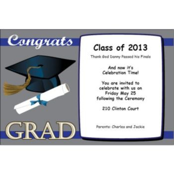 Congrats to the Grad Personalized Invitations