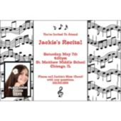 Music Note Photo Personalized Invitations