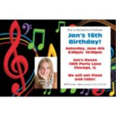 Musical Memories  Photo Personalized Invitations