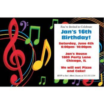 Musical Memories Personalized Invitations