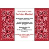 Red Bandana Personalized Invitations