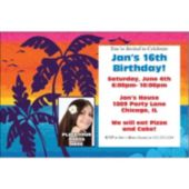 Aloha Summer Photo Personalized Invitations