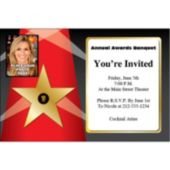 Fame Star Photo Personalized Invitations