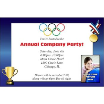 Olympic Gold Photo Personalized Invitations