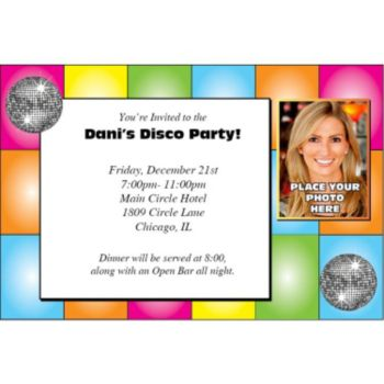 Disco Dancer Photo Personalized Invitations