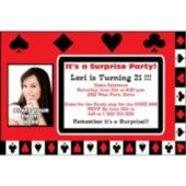 Card Night Photo Personalized Invitations