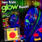 Red Super Bright Glow Paint