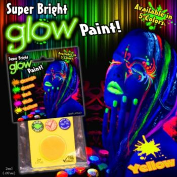 Yellow Super Bright Glow Paint