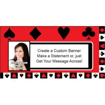 Card Night Custom Photo Banner