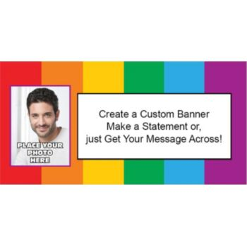 Rainbow Theme Photo Custom Banner