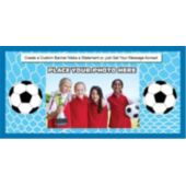 Soccer Stars Custom Photo Banner